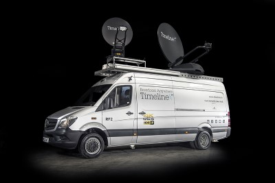 EXPLORER VSAT joins royal wedding on new Timeline TV truck